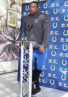 Kendall Langford at the Indianapolis Colts Press Conference at The Grove Hotel, Chandlers Cross, Watford, Herts. Indianapolis are here to play in the latest NFL International Series game at Wembley Stadium vs Jacksonville Jaguars on Sunday October 2nd 2016 - Pictured on September 30th 2016<br /> CAP/JIL<br /> &copy; Jill Mayhew/Capital Pictures /MediaPunch ***NORTH AND SOUTH AMERICAS ONLY***