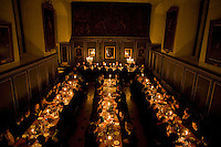 Candlelit dinner, Magdalene College, Cambridge