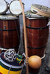 Salvador, Brazil. Drums, berimbaus, tambourine, rattles; Bahia State.