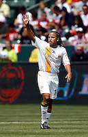 20 May 2007: Galaxy midfielder Cobi Jones waves to fans during a 1-1 tie for MLS Chivas USA vs. Los Angeles Galaxy pro soccer teams at the Home Depot Center in Carson, CA.