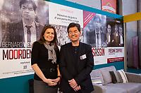 Bernard Wesphaël & Alessandra d'Angelo à la Foire du livre de Bruxelles - Belgique