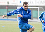St Johnstone Training&hellip;.31.03.17<br />Paul Paton pictured training on the astroturf at McDiarmid Park this morning ahead of tomorrow&rsquo;s game at Hamilton.<br />Picture by Graeme Hart.<br />Copyright Perthshire Picture Agency<br />Tel: 01738 623350  Mobile: 07990 594431