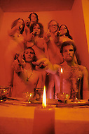 April 1974, Brooklyn, NY. Witchcraft is the oldest religion. 7 witches hold meetings at full moon occasions.