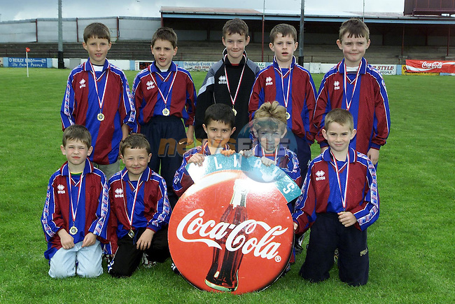 EMU Blue who recieved League medals at the DDSL finals in United Park on Sunday..Picture Paul Mohan Newsfile