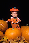Halloween with Baby and Pumpkins