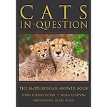 Done in question-and-answer format, this book includes every species of cat, from the domesticated ones we love to hug, to such predators as cheetahs, lions, tigers, leopards, jaguars, lynx, ocelots, panthers, and pumas. Subjects dealt with include physical features and senses, diet and predation, social behavior, evolution, decline and recovery, diversity, distribution and abundance, and the cats' roles in various cultures. Did you know that a male and female lion mate repeatedly, as often as every 20 minutes for several days? Or that lions may sleep or rest up to 19 hours a day? The text is augmented by 120 color photographs by Art Wolfe, a world-renowned photographer, and a list of scientific and common names and a glossary.<br />