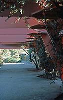 F.L. Wright: Taliesen West. Timber Lattice.  Photo '77.