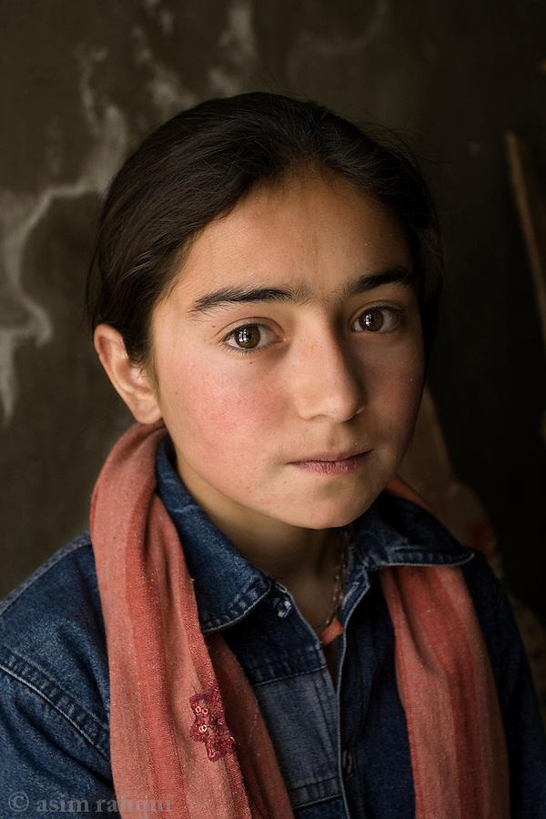 Portrait of a Hunza girl.
