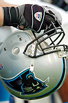 Carolina Panthers helmet on the sidelines during a game against the Buffalo Bills on November 27, 2005 at Ralph Wilson Stadium in Orchard Park, NY. The Panthers defeated the Bills 13-9. Mandatory Photo Credit: Ed Wolfstein