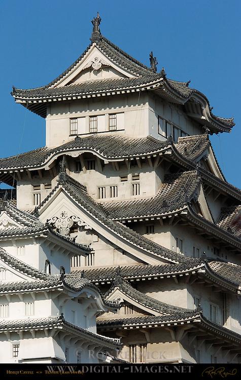 Himeji Castle Upper Tenshu Main Tower detail Shirasagi-jo White Heron Castle Himeji Japan
