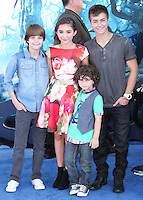 HOLLYWOOD, LOS ANGELES, CA, USA - MAY 28: Corey Fogelmanis, Rowan Blanchard, August Maturo, Peyton Meyer at the World Premiere Of Disney's 'Maleficent' held at the El Capitan Theatre on May 28, 2014 in Hollywood, Los Angeles, California, United States. (Photo by Xavier Collin/Celebrity Monitor)