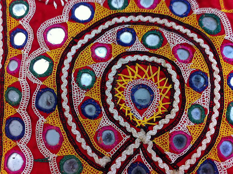 Indian Mirror Embroidery