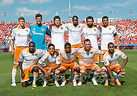 28 July 2012: Houston Dynamo starting eleven during an MLS game between Toronto FC and the Houston Dynamo at BMO Field in Toronto,Ontario Canada..The Houston Dynamo won 2-0...
