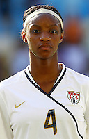 USA's Crystal Dunn during the FIFA U20 Women's World Cup at the Rudolf Harbig Stadium in Dresden, Germany on July 14th, 2010.