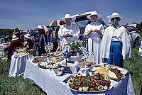 Winterthur Museum & Country Estate, Winterthur, Delaware, Point to Point Races, 3 ladies tail gate picnic