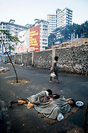 01 Mar 1975, Mumbai, India --- Original caption: A homeless person on the pavement. --- Image by © JP Laffont