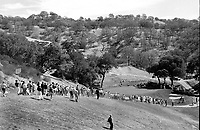 CROWD walking down to the 7th green at Round Hill CC during the LPGA tourney.(photo/Ron Riesterer)