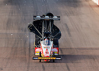 Feb 25, 2017; Chandler, AZ, USA; NHRA top fuel driver Doug Kalitta during qualifying for the Arizona Nationals at Wild Horse Pass Motorsports Park. Mandatory Credit: Mark J. Rebilas-USA TODAY Sports