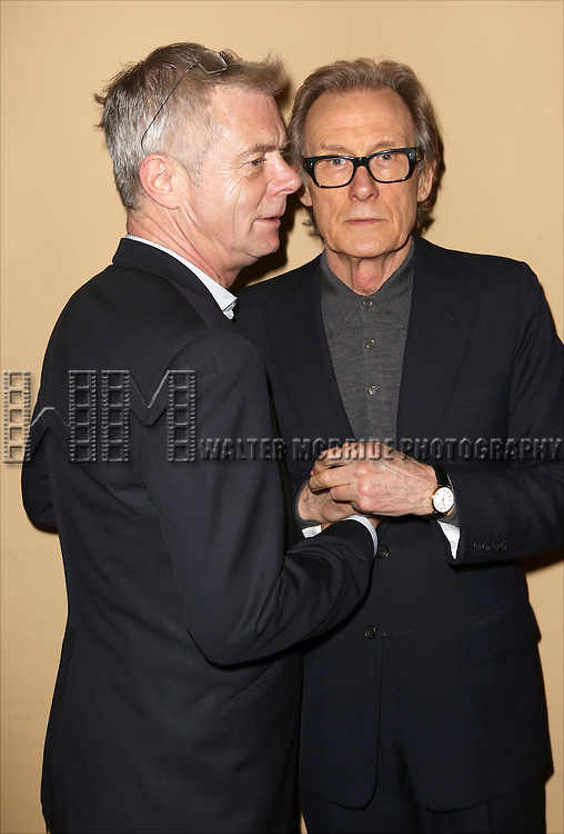 Director Stephen Daldry and Bill Nighy attend the 'photo call for the Broadway production of Skylark' at the Golden Theatre on March 10, 2015 in New York City.