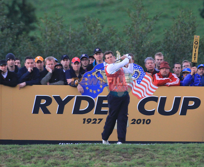 2010 Ryder Cup at the Celtic Manor twenty ten course, Newport Wales, 1/10/2010 on day one of play After play restarted at 5 pm...Picture Fran Caffrey/www.golffile.ie.