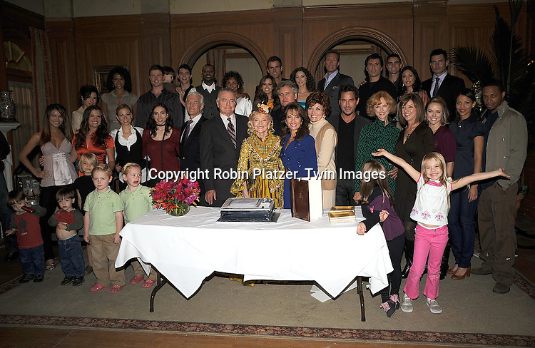 All My Children cast with the cake..at The 10,000th taping of All My Children on October 16, 2008 at their studio. ....Robni Platzer, Twin Images