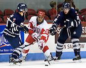 Kyle Ventura (Toronto - 14), Sahir Gill (BU - 28), Tyler Turcotte (Toronto - 2) - The Boston University Terriers defeated the visiting University of Toronto Varsity Blues 9-3 on Saturday, October 2, 2010, at Agganis Arena in Boston, MA.