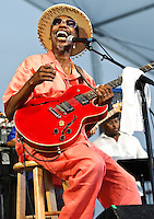 "Walter ""Wolfman"" Washington playing at Jazz Fest 2011 in New Orleans, LA on day 6."