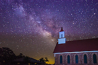 This image was capture as the milky way stars seem to flow out of the steeple of this church in the night sky in the Texas Hill Country.  To enhance the church we added a little light paintint to bring it out.  As always it it difficult to get out far enough away so you can see the stars and keep the light pollution at a minumum.  It was so inspiring to see all these beautiful stars in the evening sky.