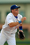 19 March 2006: Bill Mueller, infielder for the Los Angeles Dodgers, makes a play at third during a Spring Training game against the Washington Nationals at Holeman Stadium, in Vero Beach, Florida. The Dodgers defeated the Nationals 9-1 in Grapefruit League play...Mandatory Photo Credit: Ed Wolfstein Photo..