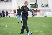 Piscataway, NJ - Saturday May 20, 2017: David Hodgson prior to a regular season National Women's Soccer League (NWSL) match between Sky Blue FC and the Houston Dash at Yurcak Field.  Sky Blue defeated Houston, 2-1.