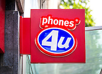 Phones 4u Mobile Phone Shop Sign - Aug 2013.