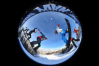Aspen, Co - 28, JANUARY 2012 - Buttermilk Mountain: Snowboarders competing in Women's Snowboarder X Final during Winter X Games Aspen 2012..(Photo by Robert Beck / ESPN Images)..- RAW FILE AVAILABLE -