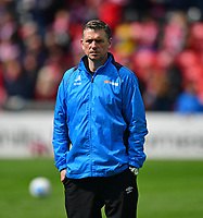 Macclesfield Town manager John Askey during the pre-match warm-up <br /> <br /> Photographer Chris Vaughan/CameraSport<br /> <br /> Vanarama National League - Lincoln City v Macclesfield Town - Saturday 22nd April 2017 - Sincil Bank - Lincoln<br /> <br /> World Copyright &copy; 2017 CameraSport. All rights reserved. 43 Linden Ave. Countesthorpe. Leicester. England. LE8 5PG - Tel: +44 (0) 116 277 4147 - admin@camerasport.com - www.camerasport.com