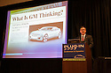 Jonathan Lauckner, Vice President, Global Program Management, General Motors Corporation (GM) giving a speech 'What Is GM Thinking?'. The speech was held on the opening day of the July 22-24 inaugural Plug-In 2008 Conference & Exposition: A Short Drive to Tomorrow in San Jose, CA. The event showcases the latest technological advances, market research and policy initiatives shaping the future of plug-in hybrid electric vehicles (PHEVs). San Jose, California, USA