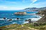 View of the Pacific coast at Goat Rock Beach, on Highway 1 between Bodega Bay and Jenner in Sonoma County.