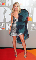 Mollie King at The BRIT Awards 2017 at The O2, Peninsula Square, London on February 22nd 2017<br /> CAP/ROS<br /> &copy; Steve Ross/Capital Pictures /MediaPunch ***NORTH AND SOUTH AMERICAS ONLY***