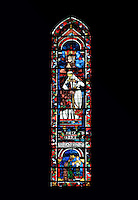 Melchizedek and Nebuchadnezzar, king and high priest of the Old Testament, lancet window, North Rose window, circa 1230, Chartres Cathedral, Eure et Loir, France. Picture by Manuel Cohen