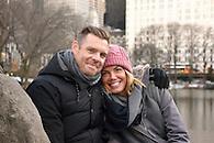 Engagement portrait in Central Park