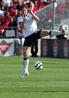 02 June 2013: U.S Women's National Soccer Team forward Abby Wambach #20 in action during an International Friendly soccer match between the U.S. Women's National Soccer Team and the Canadian Women's National Soccer Team at BMO Field in Toronto, Ontario.<br /> The U.S. Women's National Team Won 3-0.