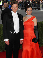 """NEW YORK CITY, NY, USA - MAY 05: Colin Firth, Livia Giuggioli at the """"Charles James: Beyond Fashion"""" Costume Institute Gala held at the Metropolitan Museum of Art on May 5, 2014 in New York City, New York, United States. (Photo by Xavier Collin/Celebrity Monitor)"""