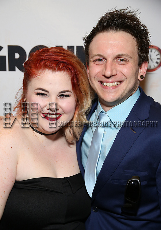 Katy Geraghty and Gerard Canonico attends the Broadway Opening Night After Party for 'Groundhog Day' at Gotham Hall on April 17, 2017 in New York City.