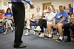 Former Minnesota Gov. Tim Pawlenty speaks at a campaign stop at Briggs Wood Golf Course in Webster City, Iowa, July 21, 2011.