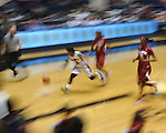 Ole Miss' Valencia McFarland (3) vs. Alabama in NCAA women's basketball action in Oxford, Miss. on Sunday, January 13, 2013.  Alabama won 83-75.
