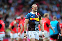 Mike Brown of Harlequins looks on during a break in play. Aviva Premiership match, between Harlequins and Saracens on September 24, 2016 at the Twickenham Stoop in London, England. Photo by: Patrick Khachfe / JMP