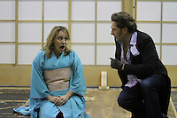 Staging rehearsal for Seattle Opera's production of Madame Butterfly.