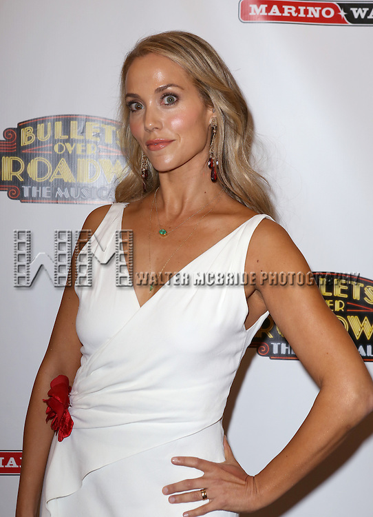 Elizabeth Berkley attending the Broadway Opening Night Performance of ''Bullets Over Broadway' at the St. James Theatre on April 10, 2014 in New York City.