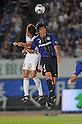 Takuya Aoki (Ardija), Kazumichi Takagi (Gamba), SEPTEMBER 10, 2011 - Football / Soccer : 2011 J.League Division 1 match between Gamba Osaka 2-0 Omiya Ardija at Expo '70 Stadium in Osaka, Japan. (Photo by AFLO)