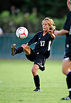 28 August 2009: University of Montreal Carabins' midfielder Marie-Claude Cyr in action against the University of Vermont Catamounts during the 2009 TD Bank Women's Soccer Classic at Centennial Field in Burlington, Vermont. The Catamounts defeated the Carabins 3-2 in sudden death overtime. Mandatory Photo Credit: Ed Wolfstein Photo