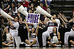 Gonzaga Cheer Squad makes noise during their game against North Dakota State during the 2015 NCAA Division I Men's Basketball Championship's March 20, 2015 at the Key Arena in Seattle, Washington.    ©2015. Jim Bryant Photo. ALL RIGHTS RESERVED.