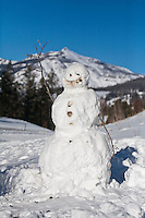 Snowman in the Shoshone National Forest of Wyoming